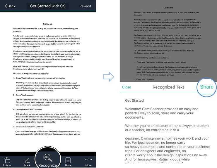 How to convert a scanned document into editable texts? |