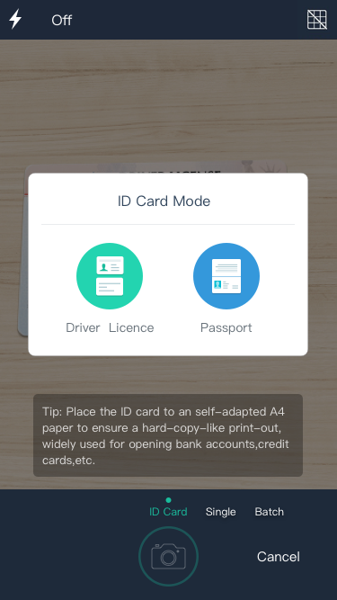 Get Premium for free and easily make a copy of your ID card with CamScanner!